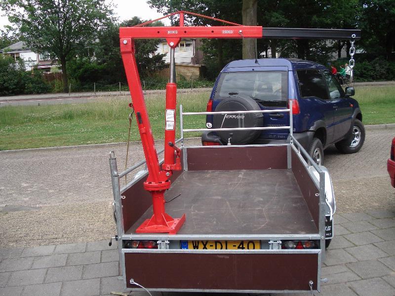 Hydraulische kraan aanhangwagen